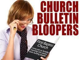 Church Bulletin Bloopers pic
