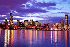 Chicago-skyline night